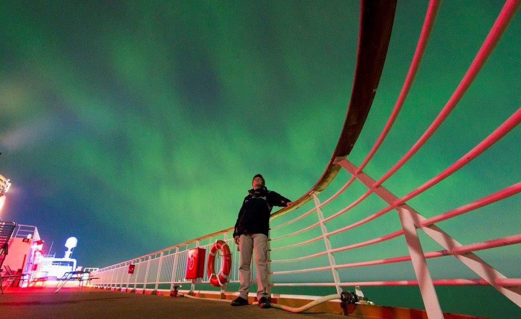 Aurora Boreal vista desde crucero
