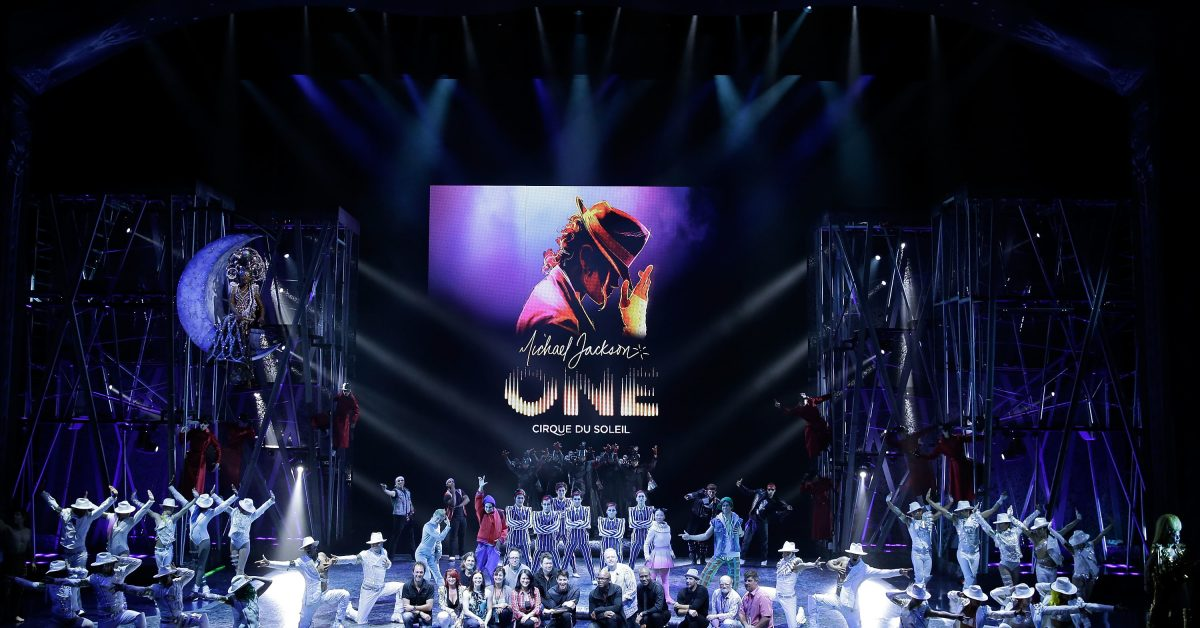 "LAS VEGAS, NV - MAY 07:  Creators and cast on stage during ""Michael Jackson ONE"" by Cirque du Soleil at Mandalay Bay Resort & Casino on May 7, 2013 in Las Vegas, Nevada.  (Photo by Isaac Brekken/Getty Images)"
