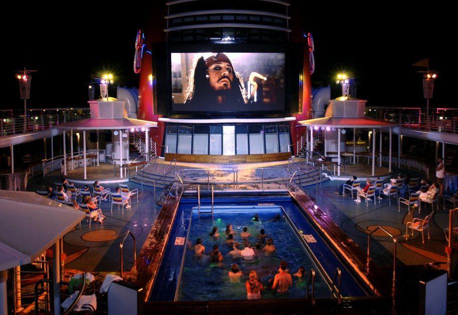 Noches de pelicula en crucero de Disney
