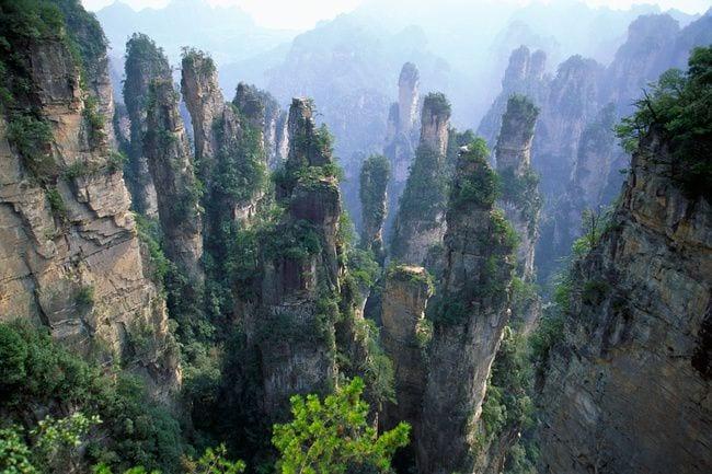 Vista aérea de Montes Huang