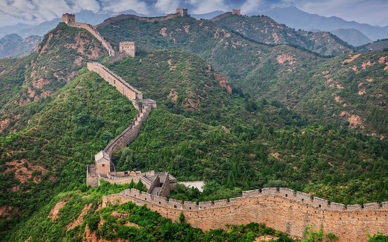 Vistas de las montallas y la gran muralla China