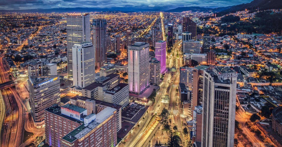 Bogotá - Vista aérea zona financiera