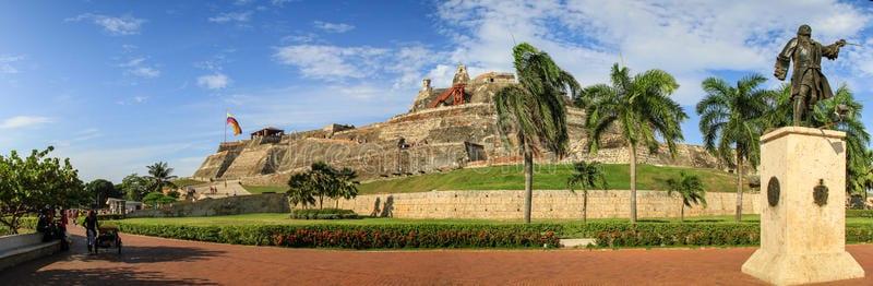 Vista Panorámica de castillo San Felipe de barajas Cartagena de Indias Colombia