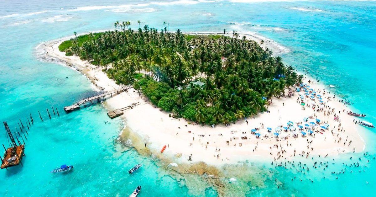 Vista aérea de Jonny Cay