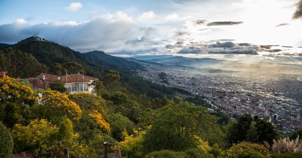 Vista parcila de Bogotá desde el cerro de Monserrate