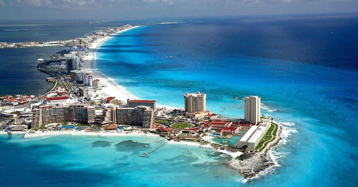 Vista aérea Cancún